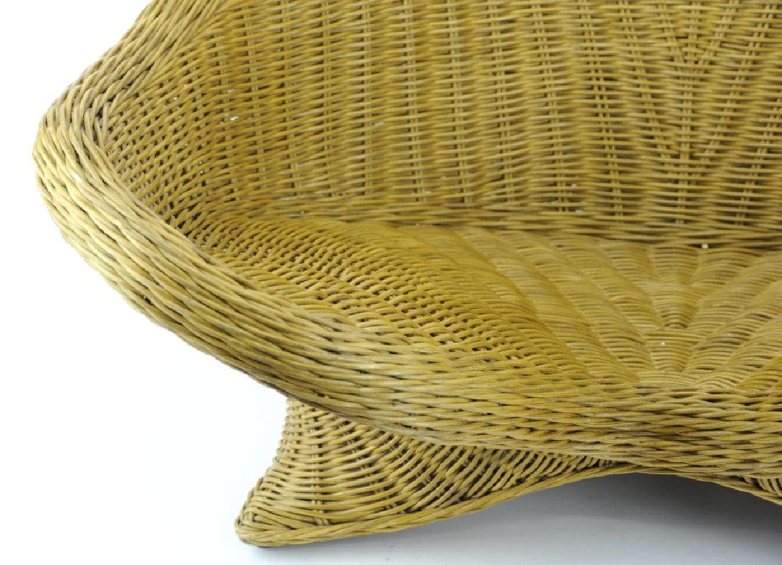 Vintage Mid Century Modern Woven Wicker Chair - 3