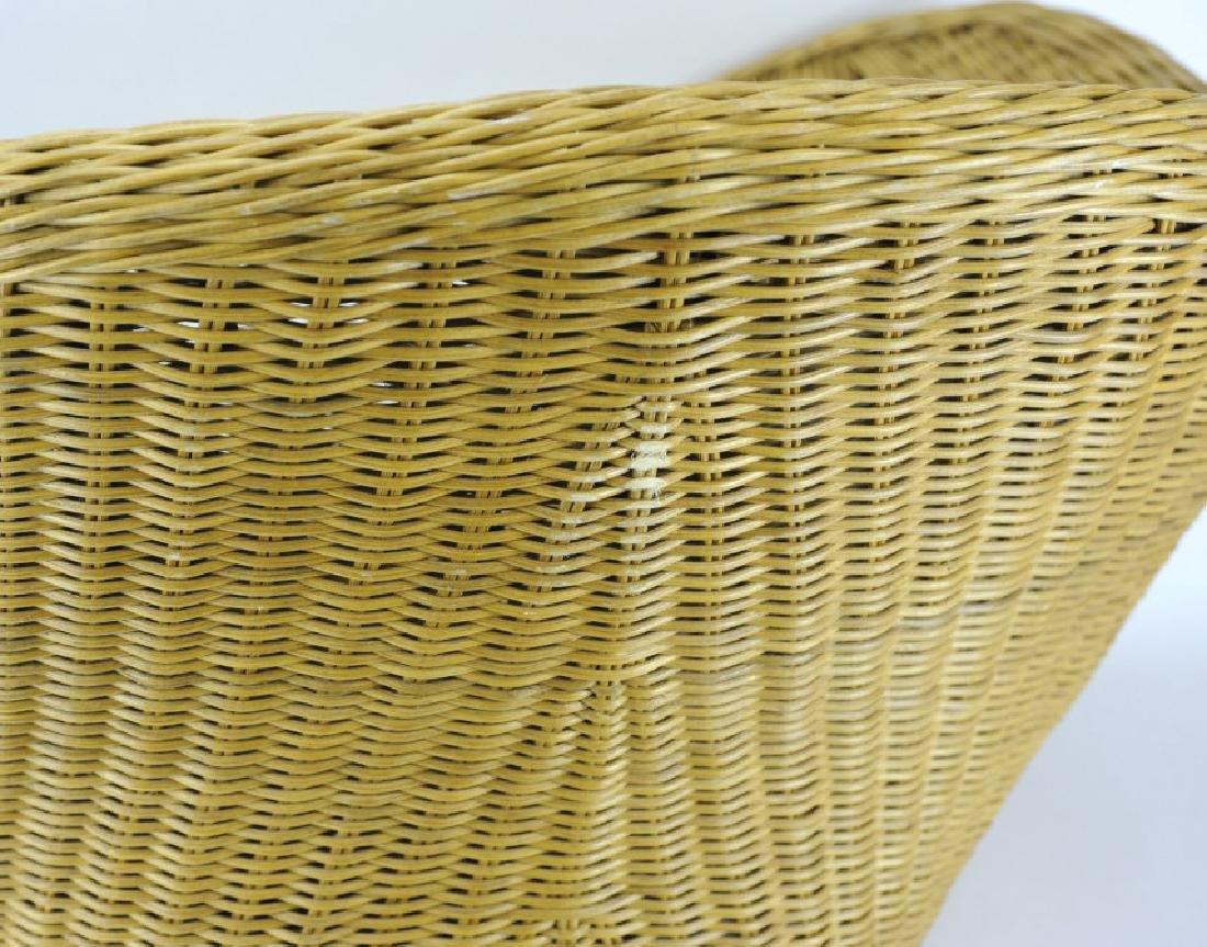 Vintage Mid Century Modern Woven Wicker Chair - 5