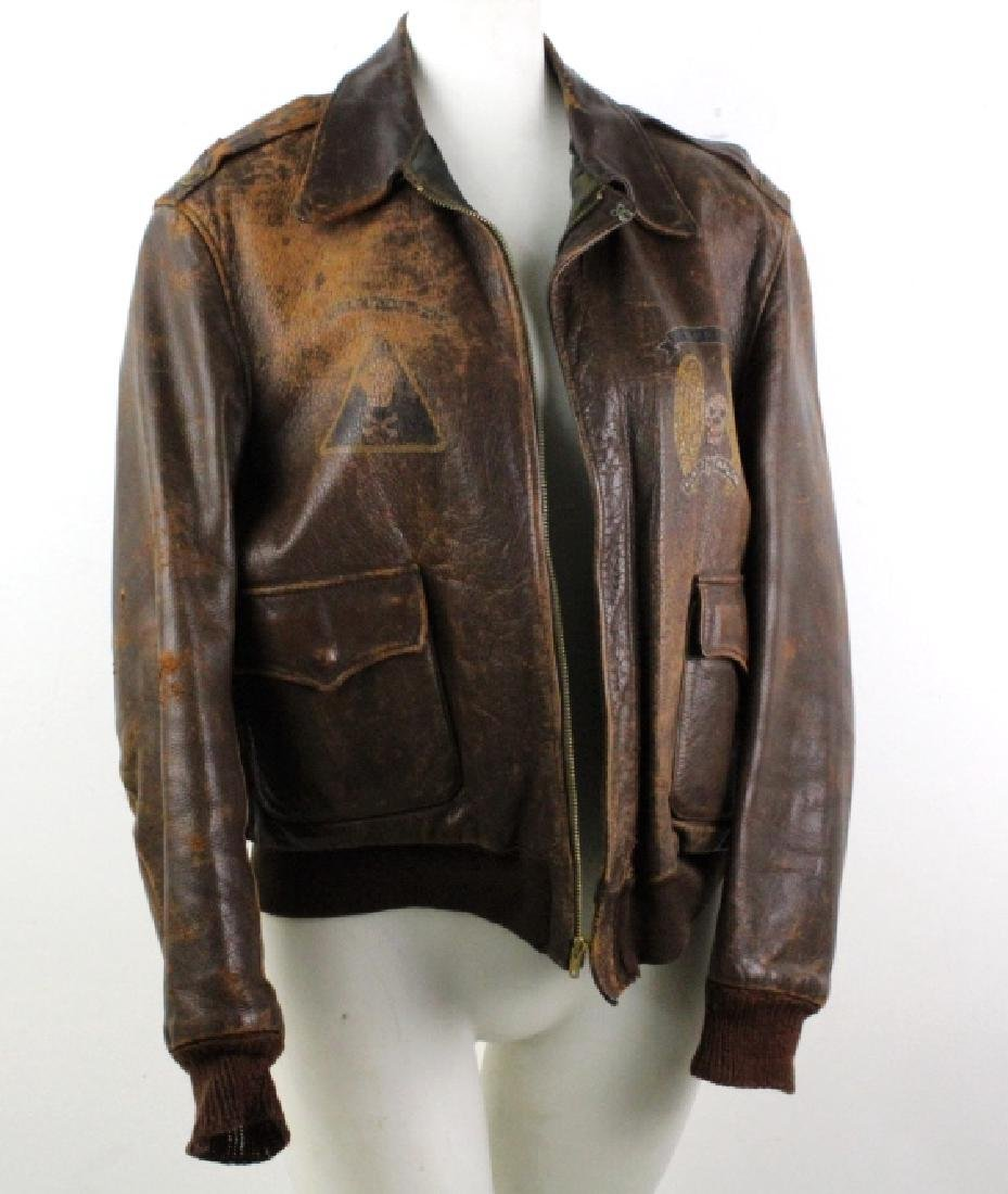 Authentic WWII Leather Pilot Bomber Jacket