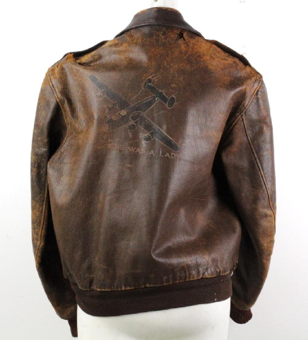 Authentic WWII Leather Pilot Bomber Jacket - 7
