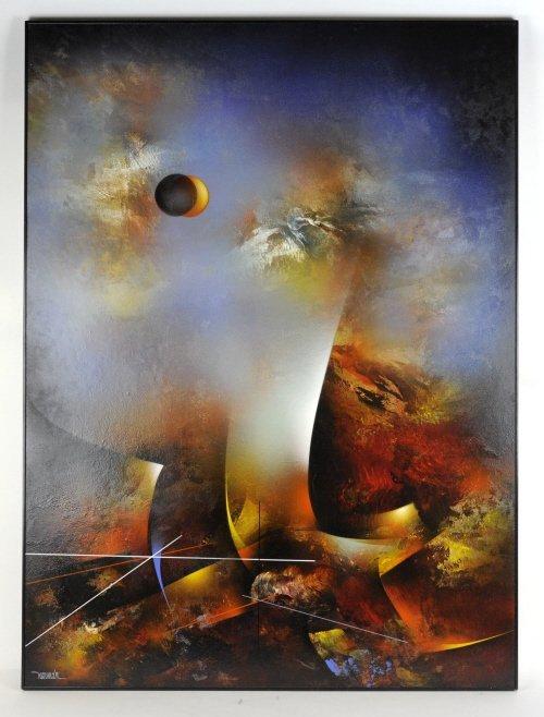 Leonardo Nierman Oil On Board Abstract Painting - 3