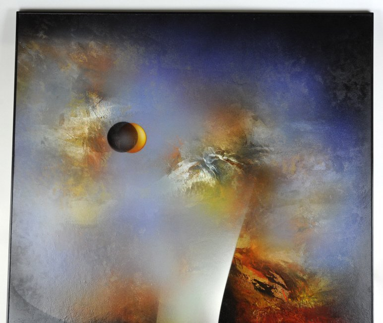 Leonardo Nierman Oil On Board Abstract Painting - 4