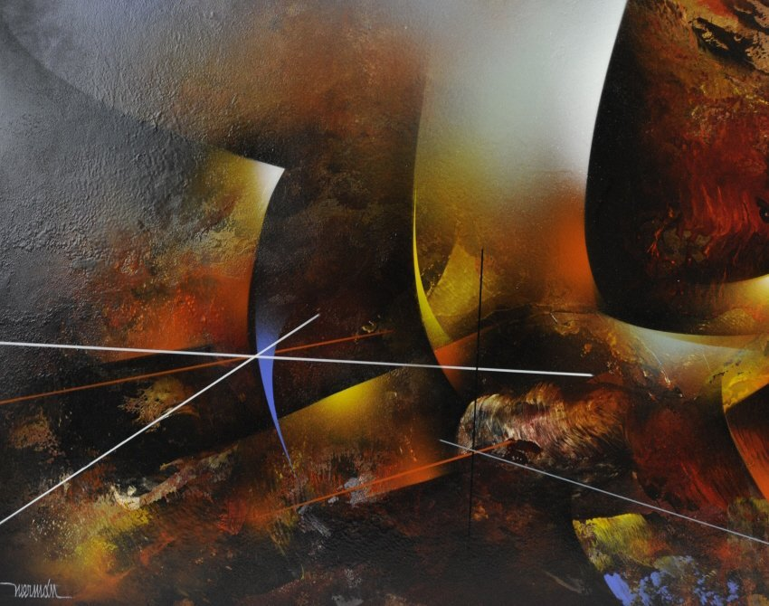 Leonardo Nierman Oil On Board Abstract Painting - 6