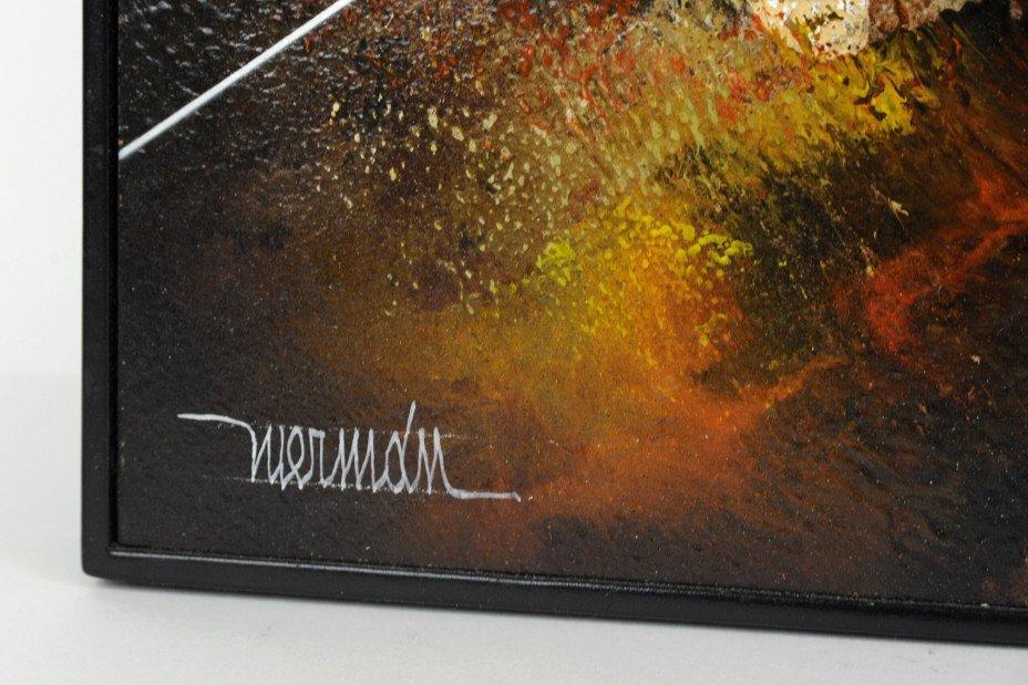 Leonardo Nierman Oil On Board Abstract Painting - 7
