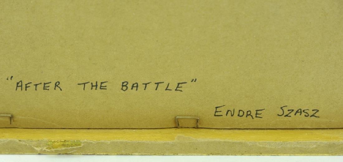 Endre Szasz After The Battle Surreal Oil Painting - 6