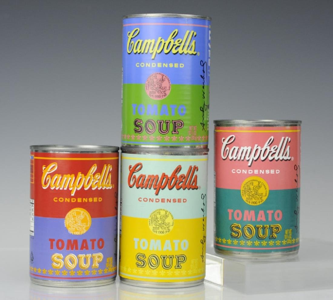 4 ANDY WARHOL Pop Art LIMITED Campbells Soup Can