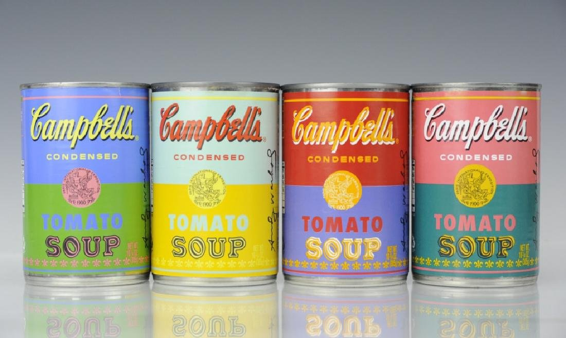 4 ANDY WARHOL Pop Art LIMITED Campbells Soup Can - 4