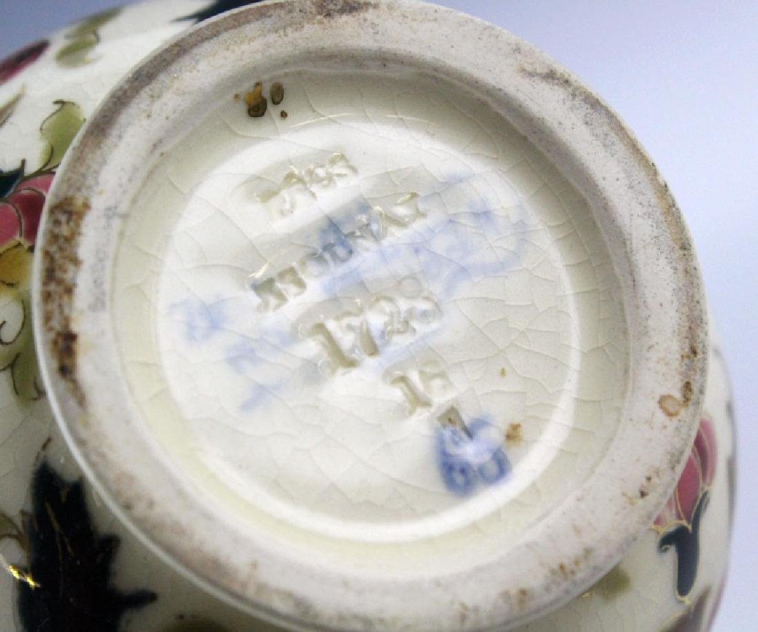 Zsolnay Art Pottery Gilt Reticulated Bird Bud Vase - 9