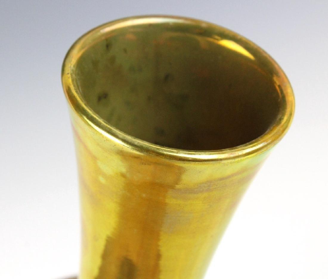 "Zsolnay Art Pottery Gilt & Red Japonist 9"" Vase - 4"
