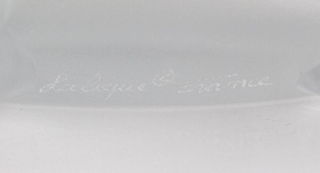 Signed Lalique Luxembourg French Art Glass Vase - 9