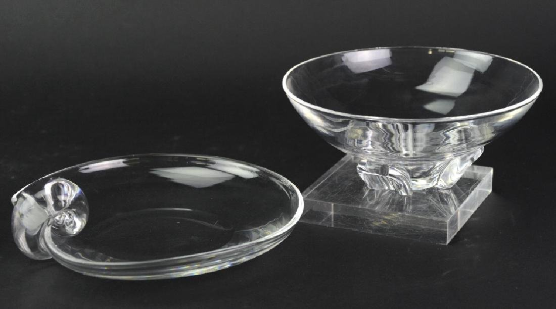 Pair Steuben American Art Glass Crystal Bowls