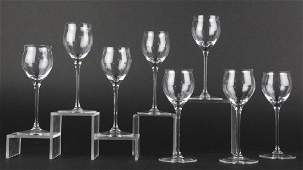 Set 8 Cartier French Crystal Sherry Glass Stems
