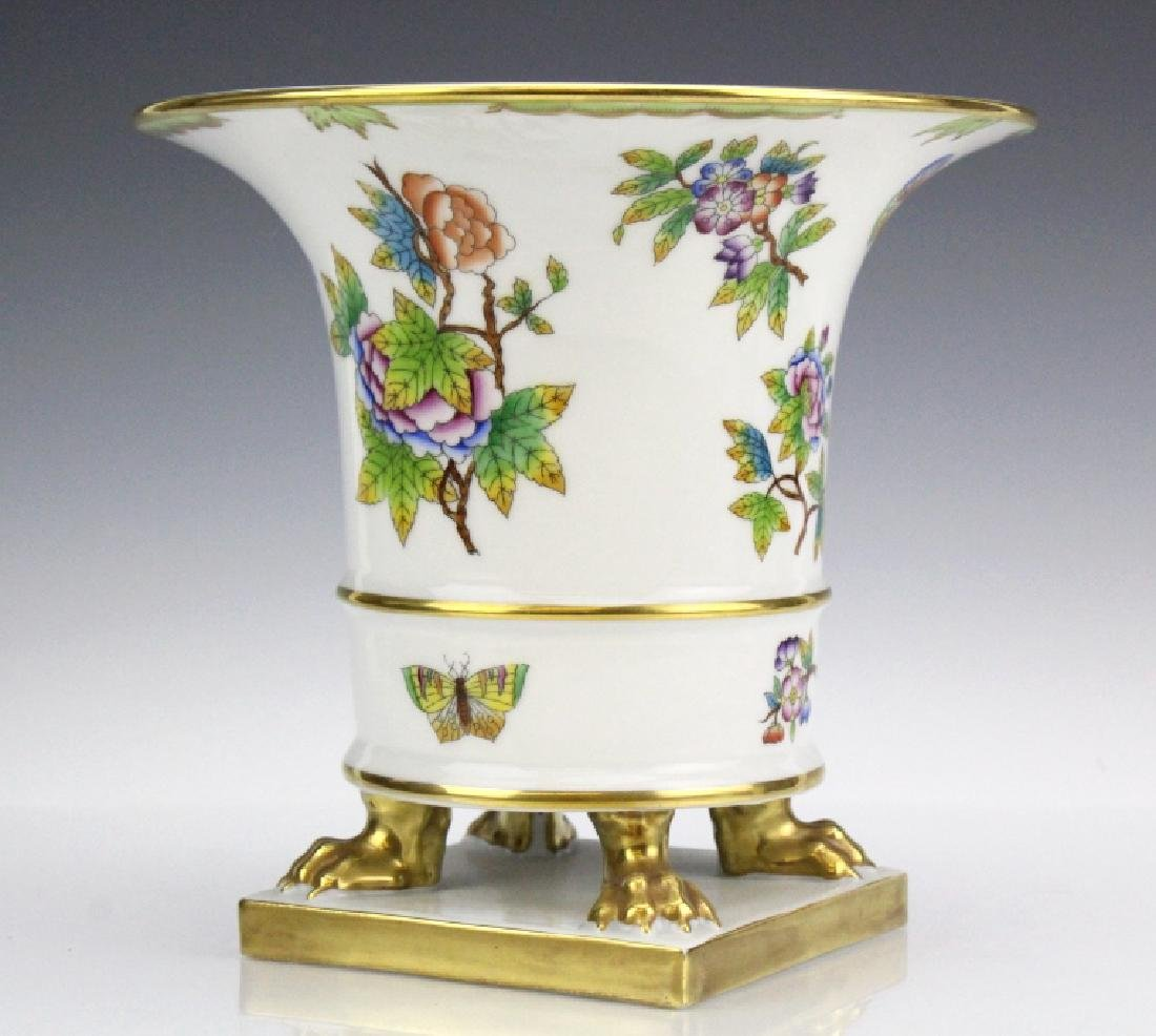 Herend Queen Victoria Paw Footed Porcelain Vase