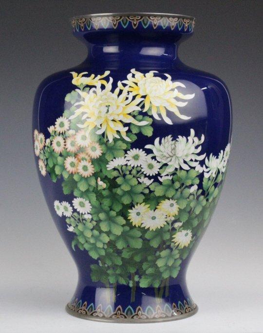 Signed ANDO Japanese Cloisonne Enamel Vase FINE