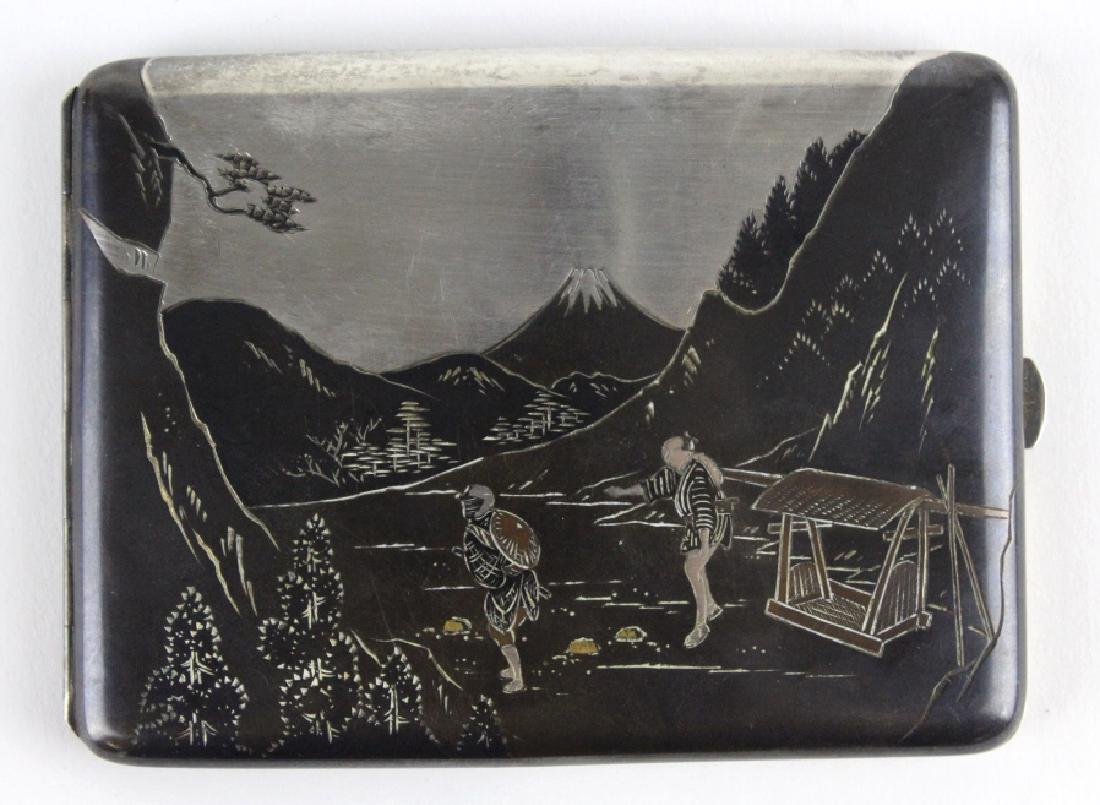 Japanese Sterling Mixed Metals Cigarette Case