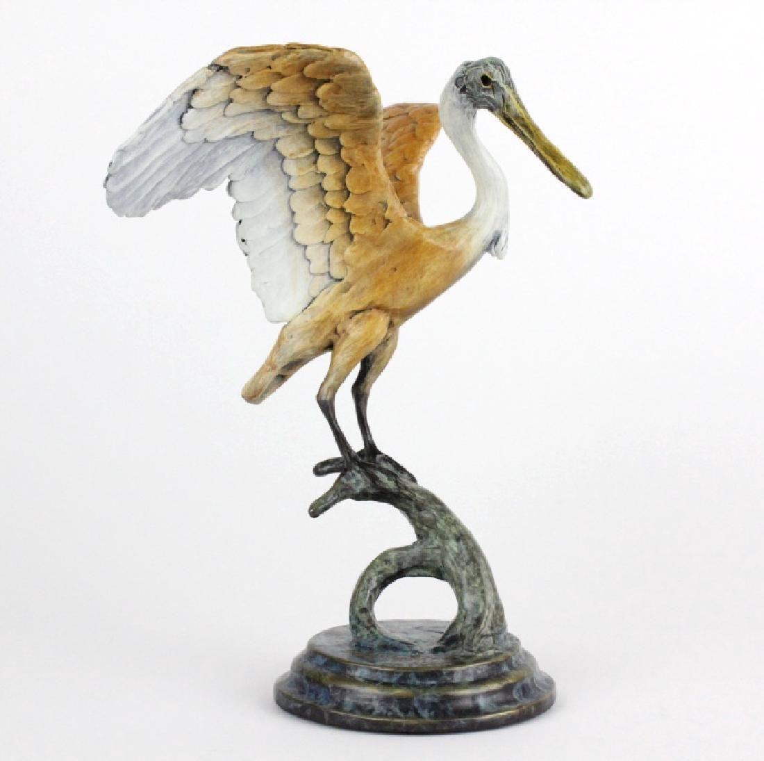 Geoffrey Camp Smith Spoonbill Bronze Statue