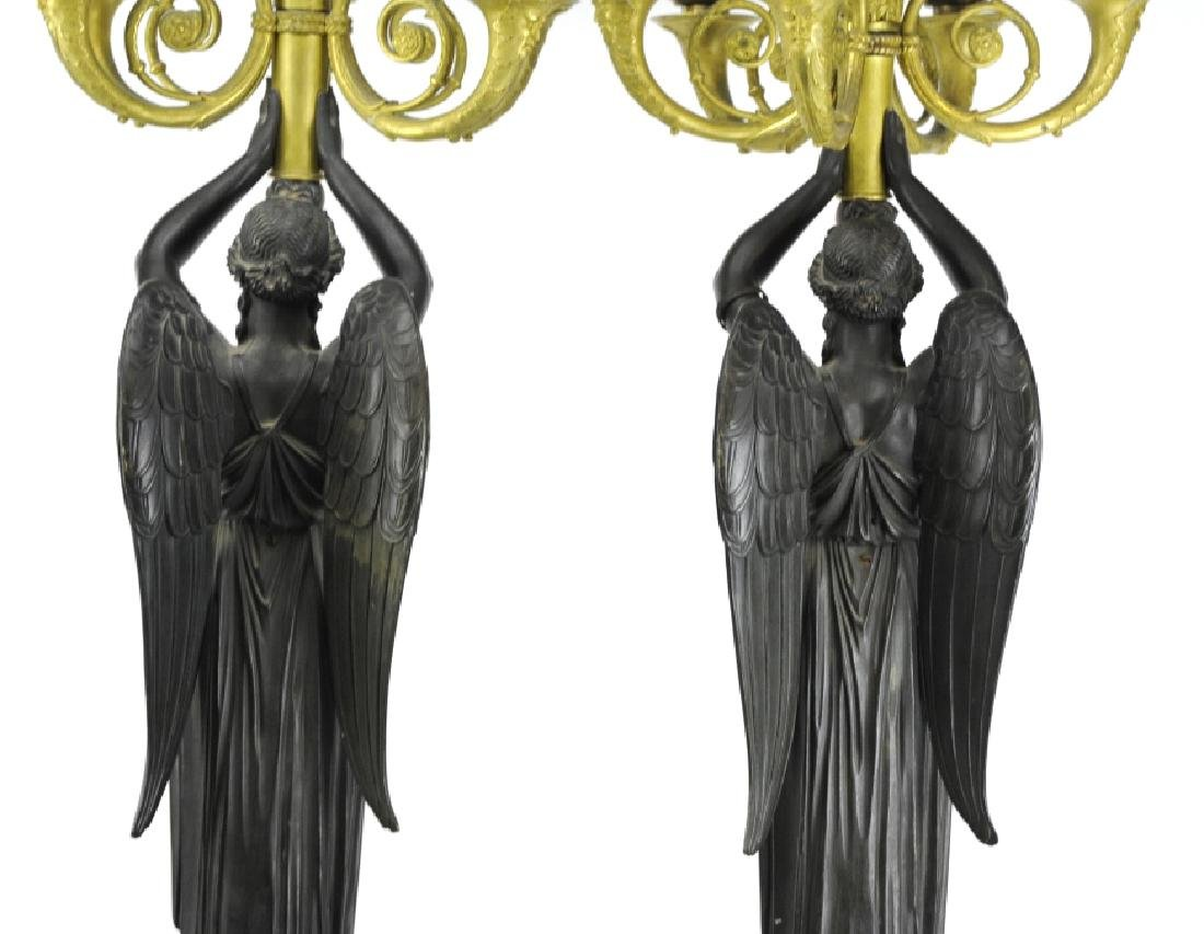 Thomire French Dore Bronze Marble Candelabras - 7