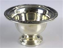 HEIRLOOM Sterling Silver Damask Rose Footed Bowl