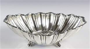 Reed & Barton Silver Scalloped Footed Center Bowl