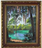 James Gibson Florida Highwaymen Landscape Painting