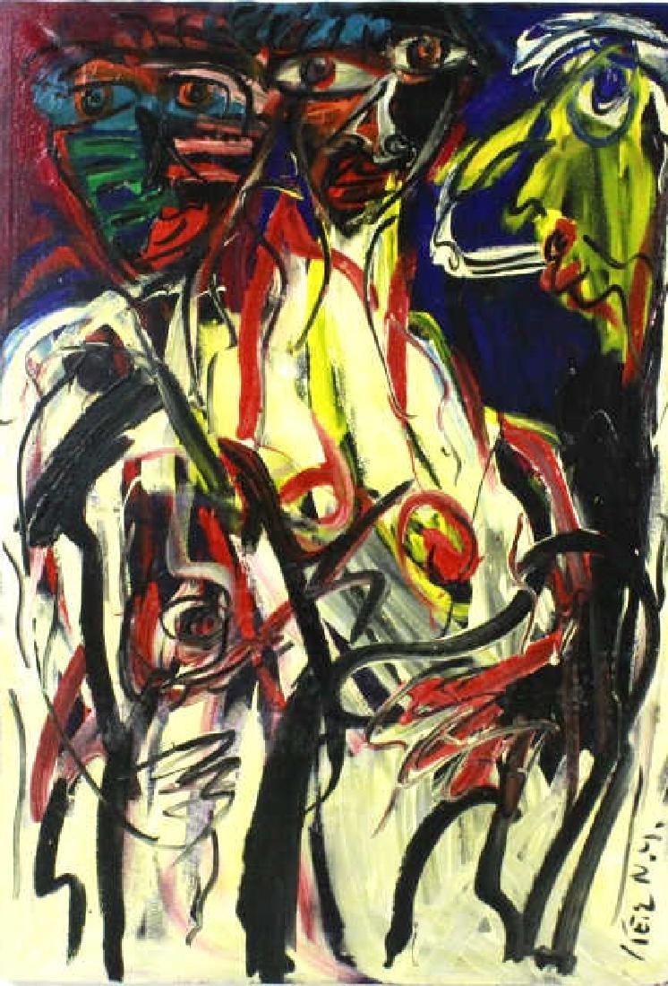 Peter Keil German Expressionist Oil Painting 59x41