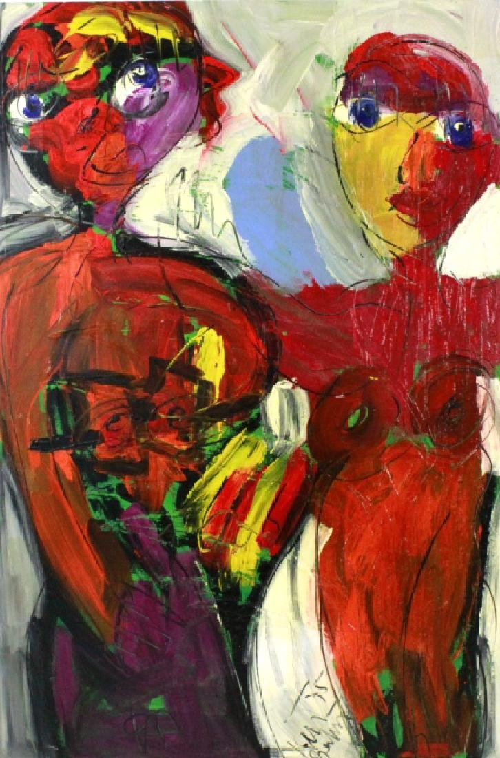 Peter Keil 1942- Neo Expressionist Painting 38x60