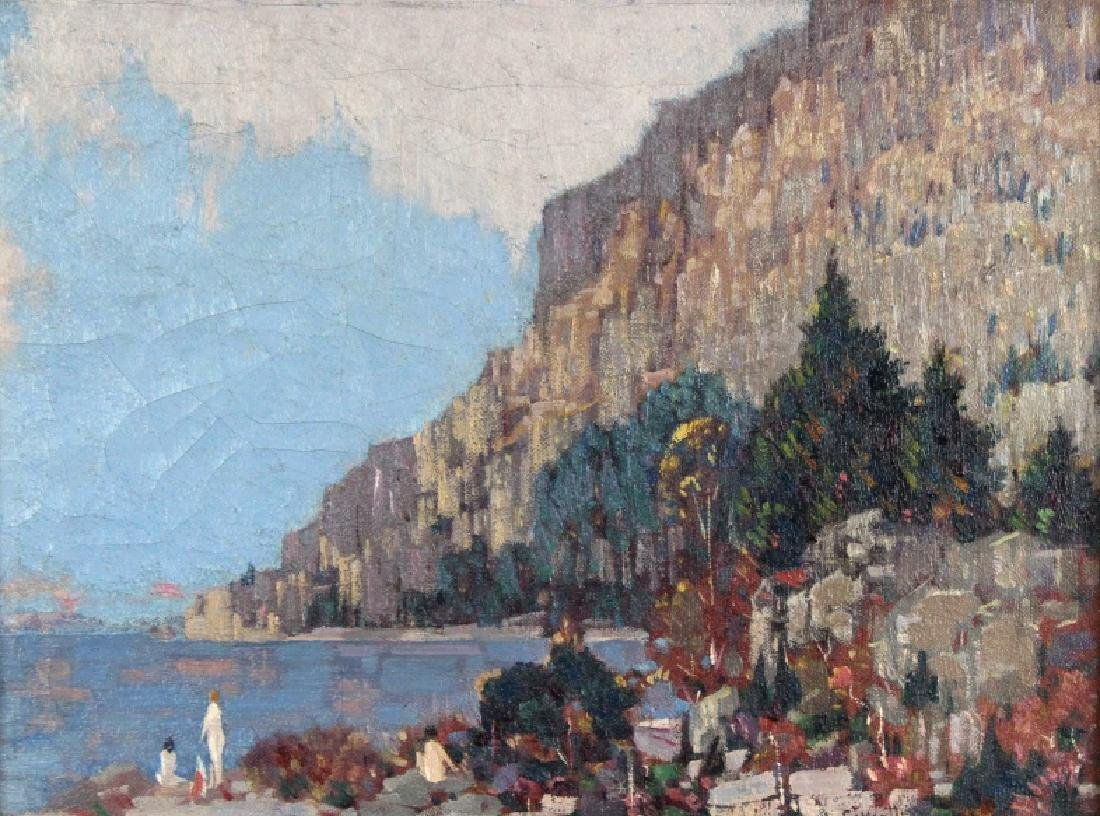 Gustave Cimiotti Jr. Lake Landscape Oil Painting - 2