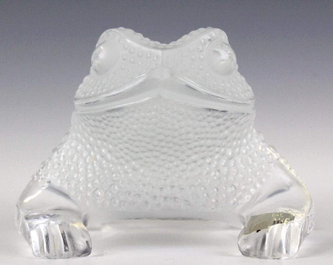 Lalique French Art Glass Gregoire Frog Paperweight