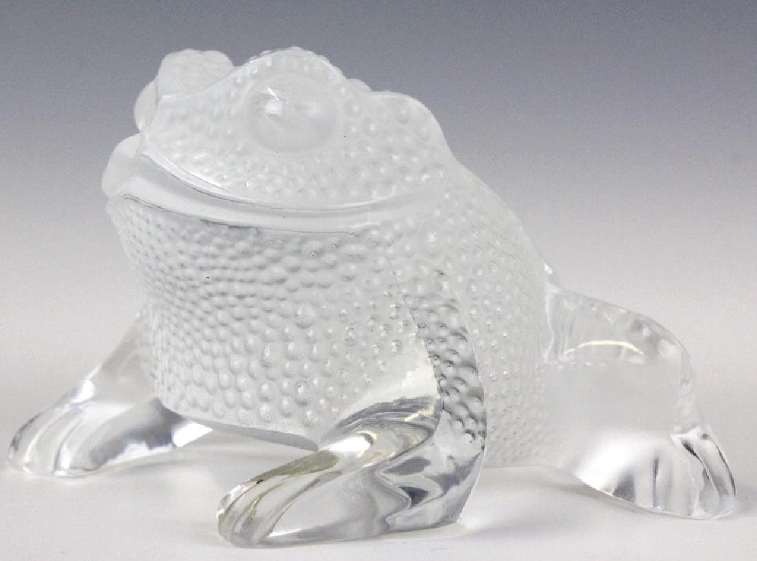 Lalique French Art Glass Gregoire Frog Paperweight - 2