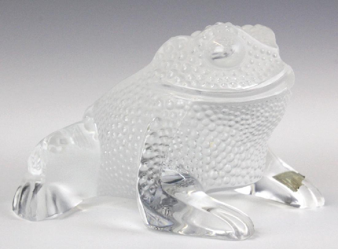 Lalique French Art Glass Gregoire Frog Paperweight - 3