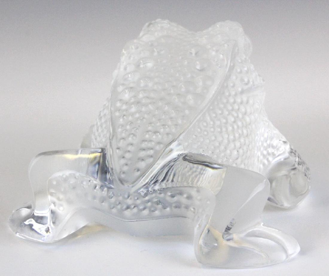 Lalique French Art Glass Gregoire Frog Paperweight - 4