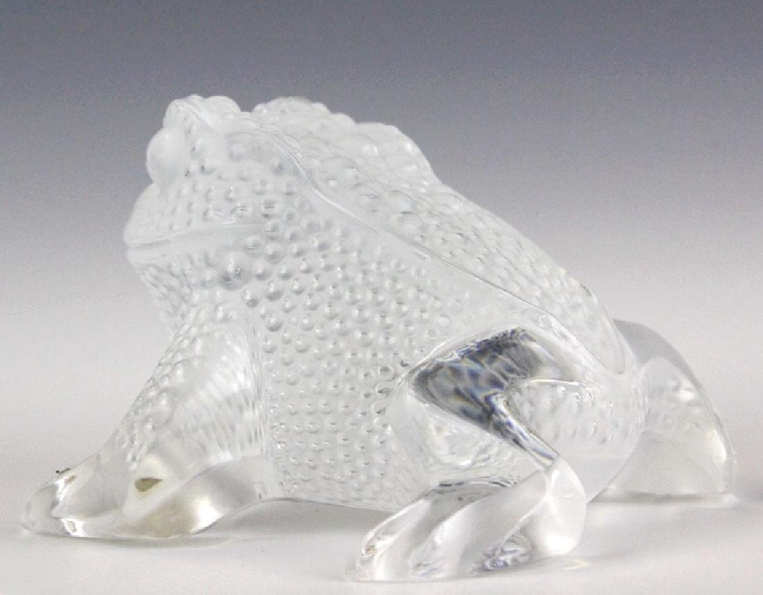 Lalique French Art Glass Gregoire Frog Paperweight - 5