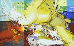 Sebastian Rodrigues Acrilic On Canvas Painting
