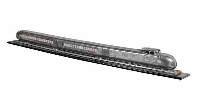 """Art Deco Streamlined Raymond Loewy Model Train 66"""""""