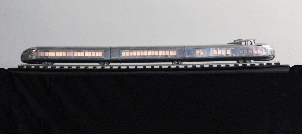 """Art Deco Streamlined Raymond Loewy Model Train 66"""" - 2"""