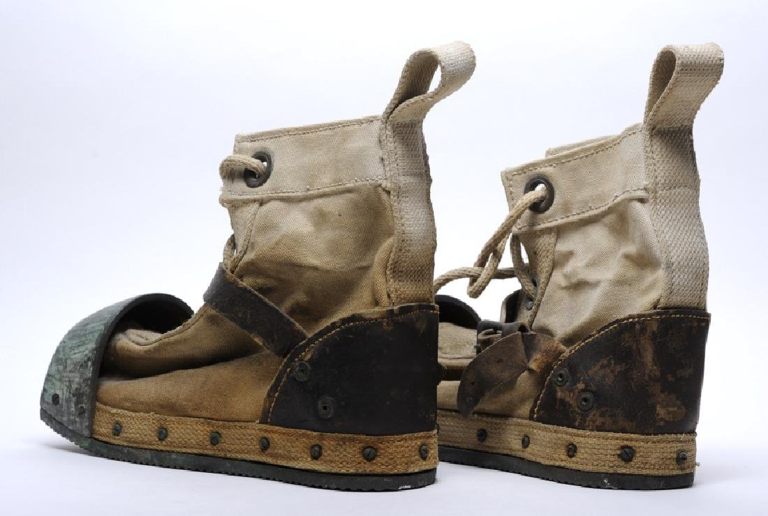 Pair WWII Era DESCO USN Navy Weighted Divers Boots - 4