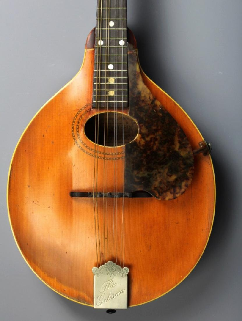 EARLY Gibson A-1 Wood Mandolin w/ Case, Circa 1911 - 2