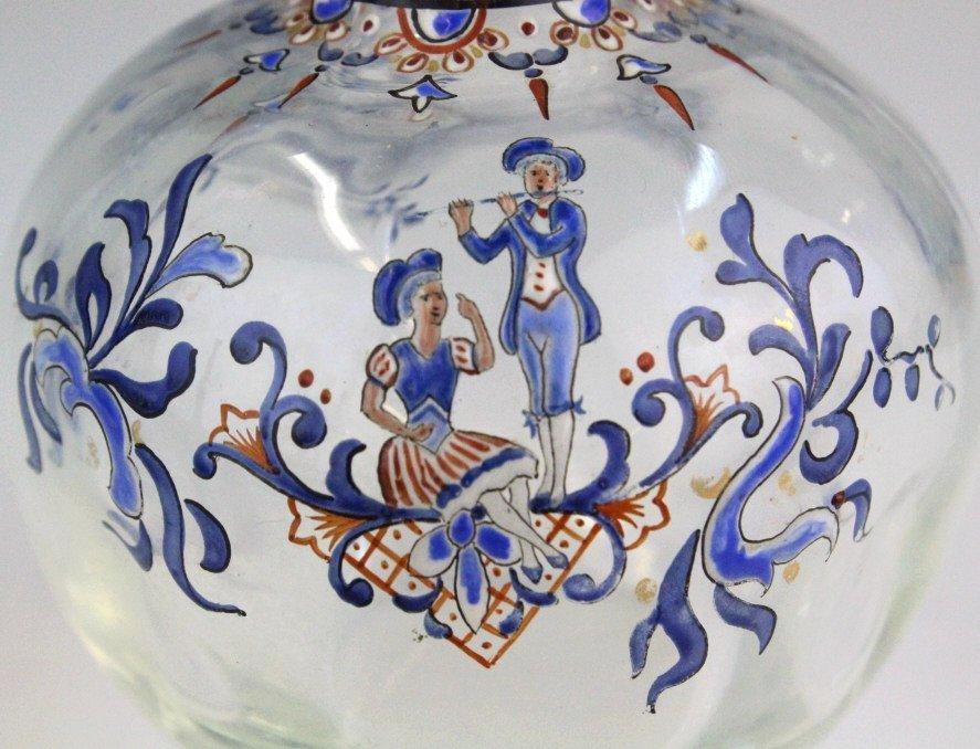 Galle French Art Glass Enameled Figure Vase - 2
