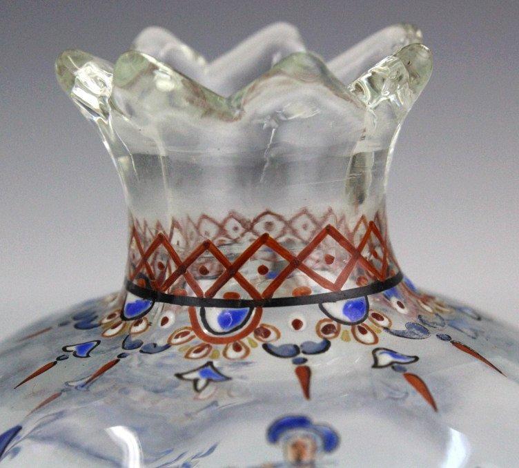 Galle French Art Glass Enameled Figure Vase - 3