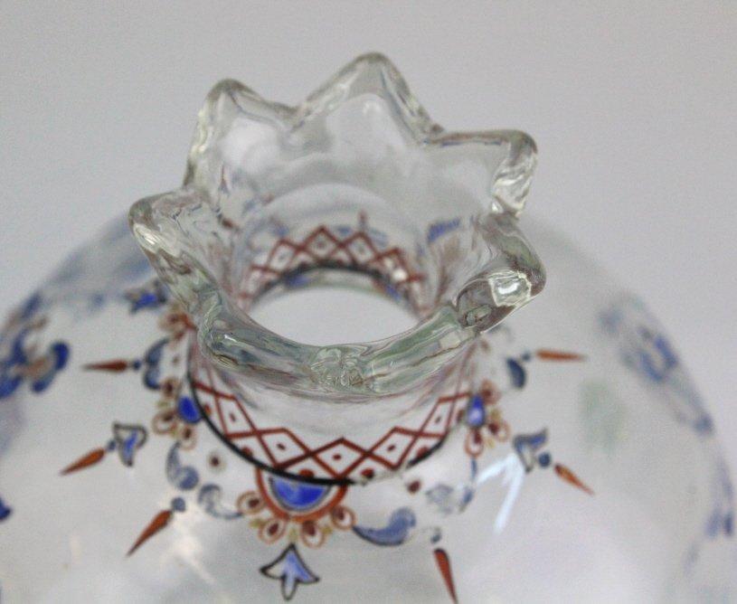 Galle French Art Glass Enameled Figure Vase - 7