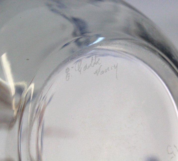 Galle French Art Glass Enameled Figure Vase - 9