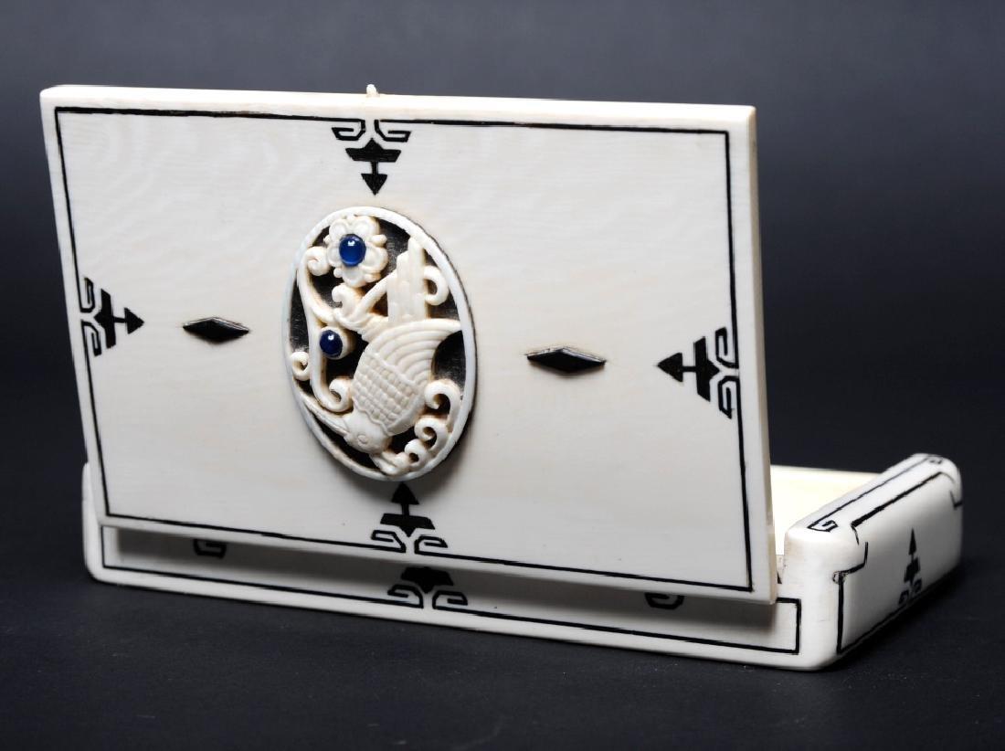 Antique CARTIER Inlaid Kingfisher Necessaire RARE