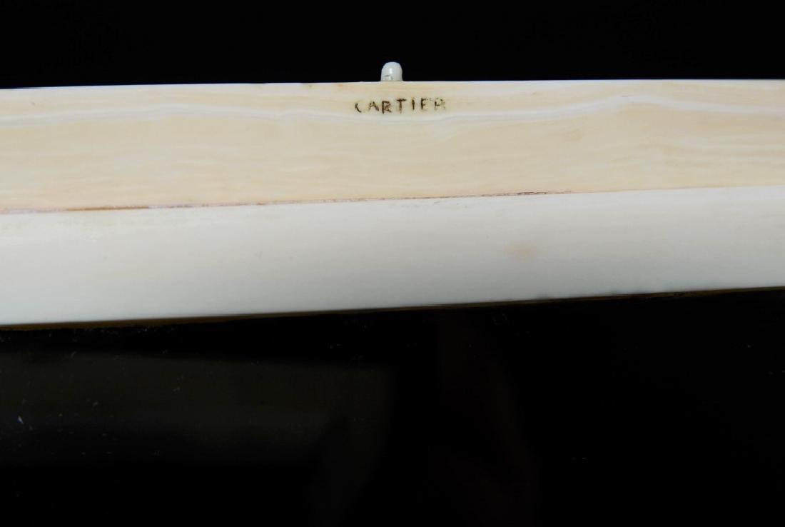 Antique CARTIER Inlaid Kingfisher Necessaire RARE - 3