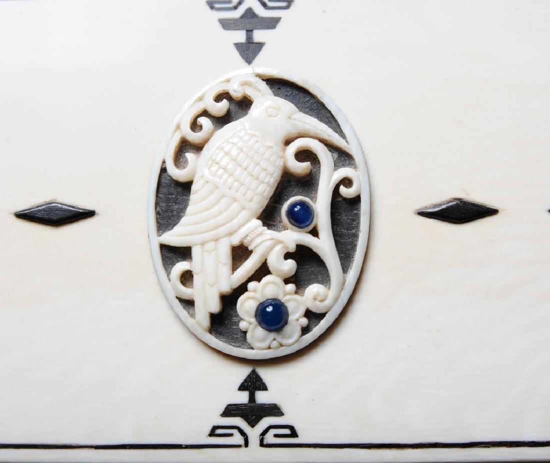 Antique CARTIER Inlaid Kingfisher Necessaire RARE - 6