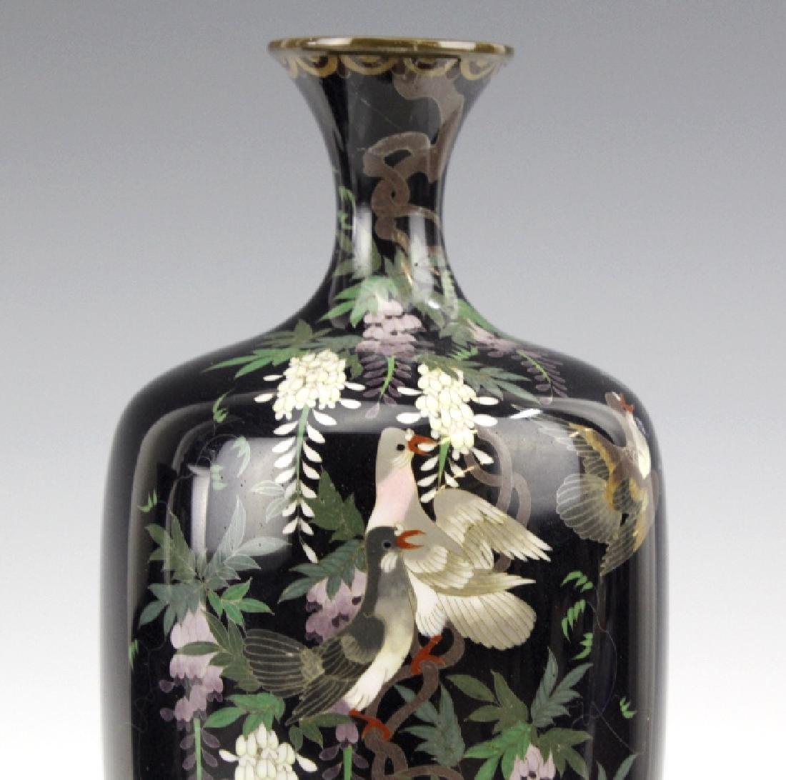 PAIR of Japanese Cloisonne Enamel Vase FINE - 2