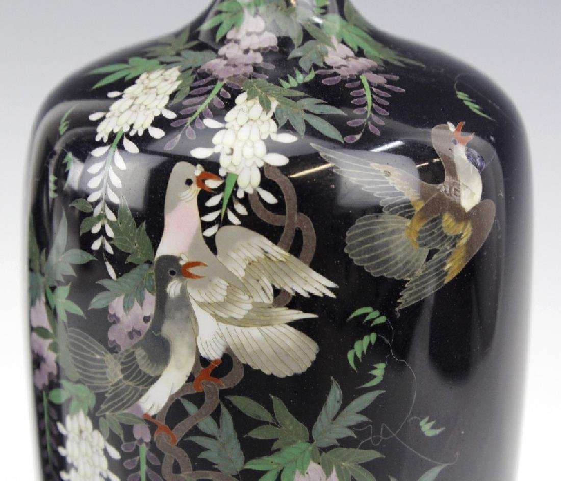 PAIR of Japanese Cloisonne Enamel Vase FINE - 3