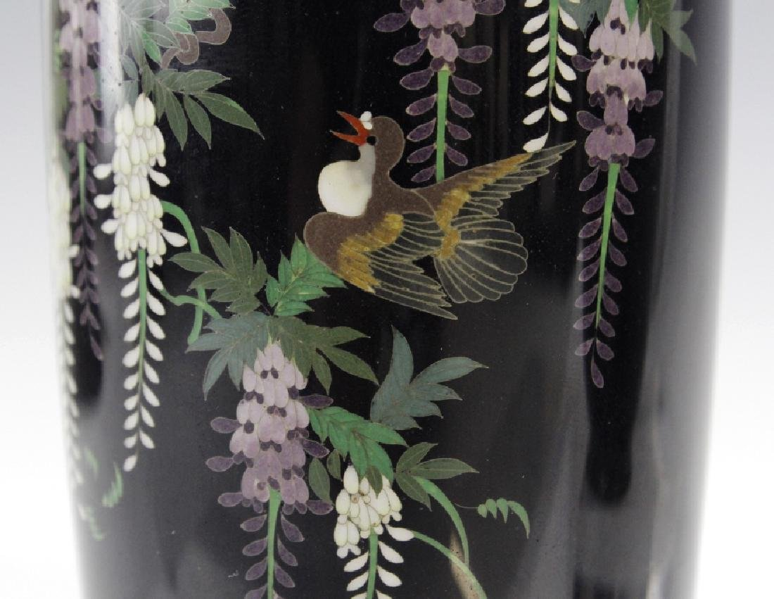 PAIR of Japanese Cloisonne Enamel Vase FINE - 5