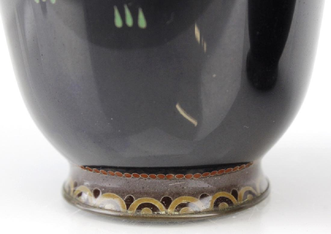 PAIR of Japanese Cloisonne Enamel Vase FINE - 7