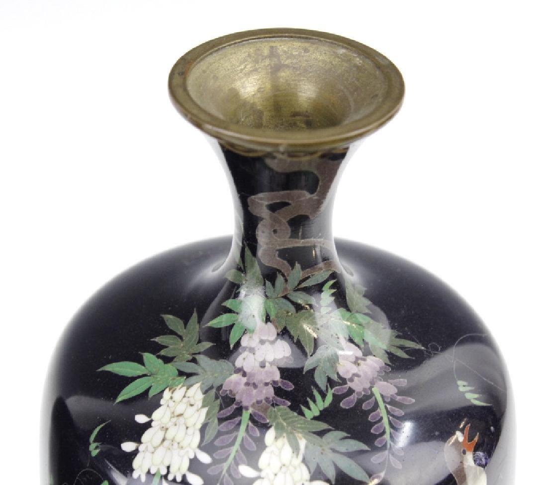 PAIR of Japanese Cloisonne Enamel Vase FINE - 9