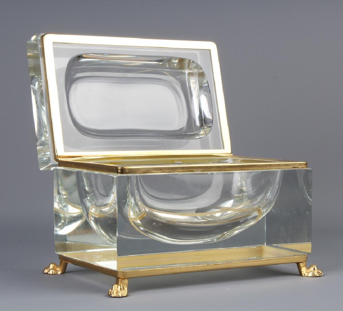 Baccarat Style French Hinged Crystal Dresser Box